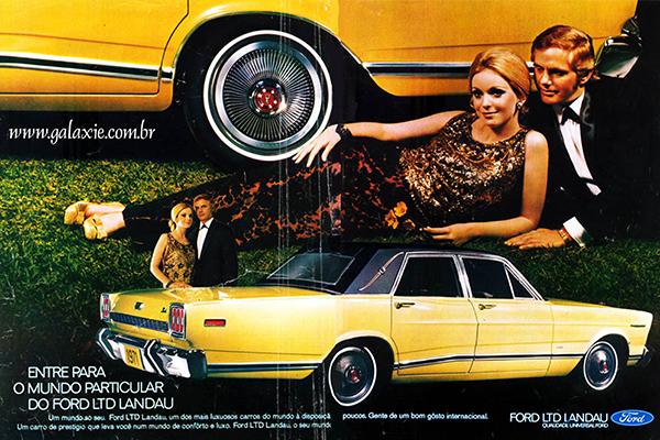 Propaganda veiculada em revista na época: luxo e exclusividade bem explorados para vender o produto