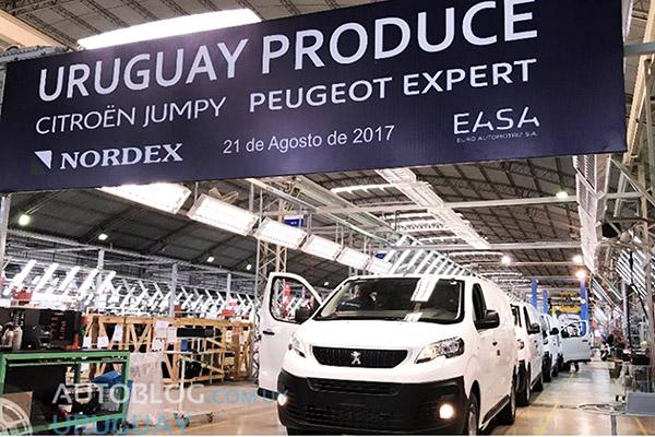 Nordex: em Montevidéu iniciou montar Expert e Jumpy (Foto: Rodrigo Barcia)