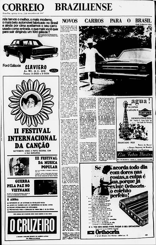 Reprodução da nossa 1ª Coluna, publicada há 50 anos!