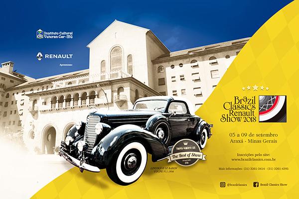 Brazil Classics Renault Show 2018: em setembro
