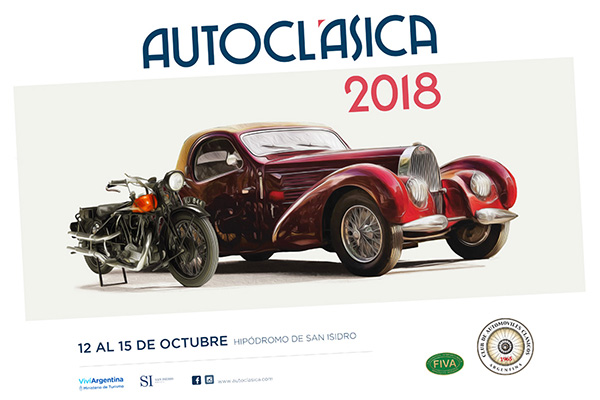 Cartaz da ótima Autoclasica na Argentina