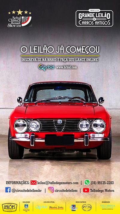 Cartaz com Alfa Romeo à venda